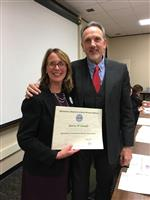 Patricia Connelly with Dr. Killmeyer