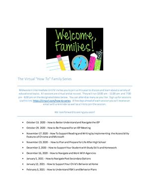 Welcome Families Flyer
