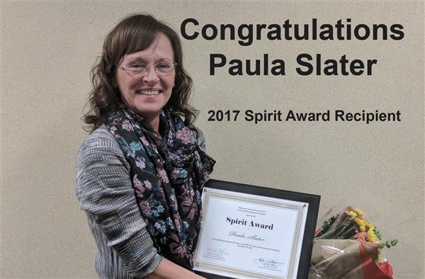 2017 Spirit Award Recipient Paula Slater
